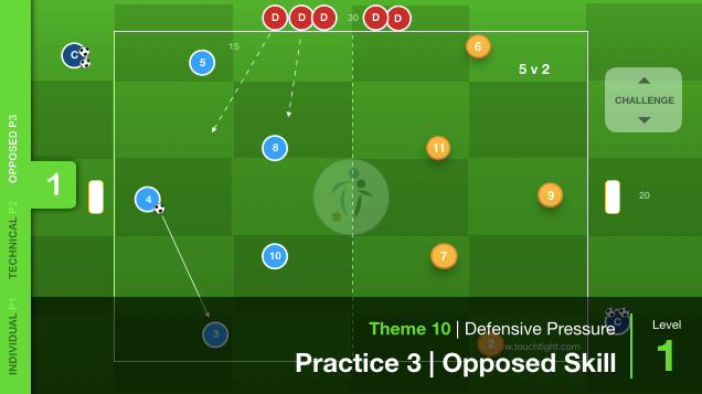 Defensive Pressure | Opposed (10-P3)