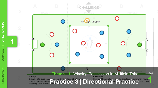 Winning Possession In MF 3rd | Directional (11-P3)
