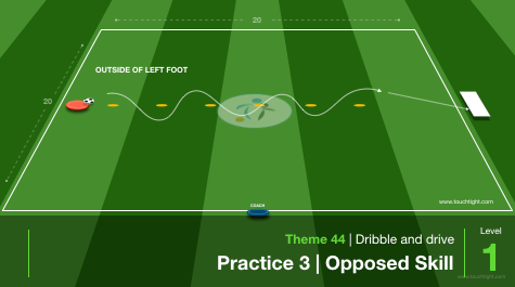 Receiving To Dribble & Drive | Individual (44-P3)